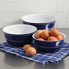 Gibson Home Just Dine Bistro Edge 3-pc. Nesting Bowl Set