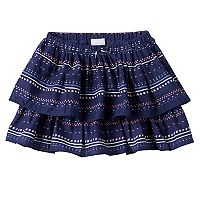 Girls 4-8 SONOMA Goods for Life™ Print Tiered Skort