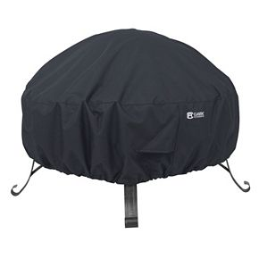 Black Large Round Fire Pit Cover