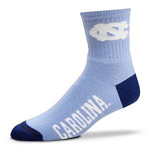 Adult For Bare Feet North Carolina Tar Heels Team Color Quarter-Crew Socks