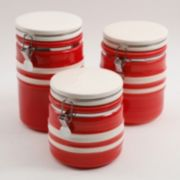 Gibson Home Just Dine Bistro Edge 3-pc. Canister Set