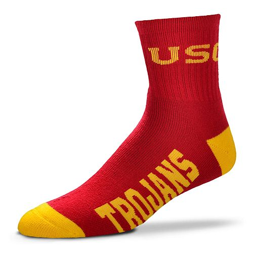 Adult For Bare Feet USC Trojans Team Color Quarter-Crew Socks