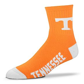 Adult For Bare Feet Tennessee Volunteers Team Color Quarter-Crew Socks