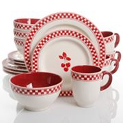 Gibson Home General Store Cherry Diner 16 pc Dinnerware Set