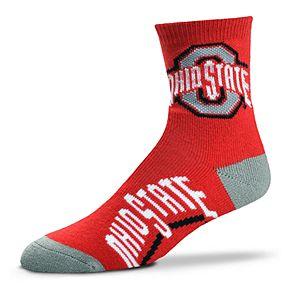 Adult For Bare Feet Ohio State Buckeyes Team Color Quarter-Crew Socks