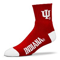 Adult For Bare Feet Indiana Hoosiers Team Color Quarter-Crew Socks