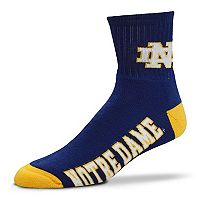 Adult For Bare Feet Notre Dame Fighting Irish Team Color Quarter-Crew Socks
