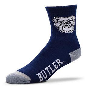 Adult For Bare Feet Butler Bulldogs Team Color Quarter-Crew Socks