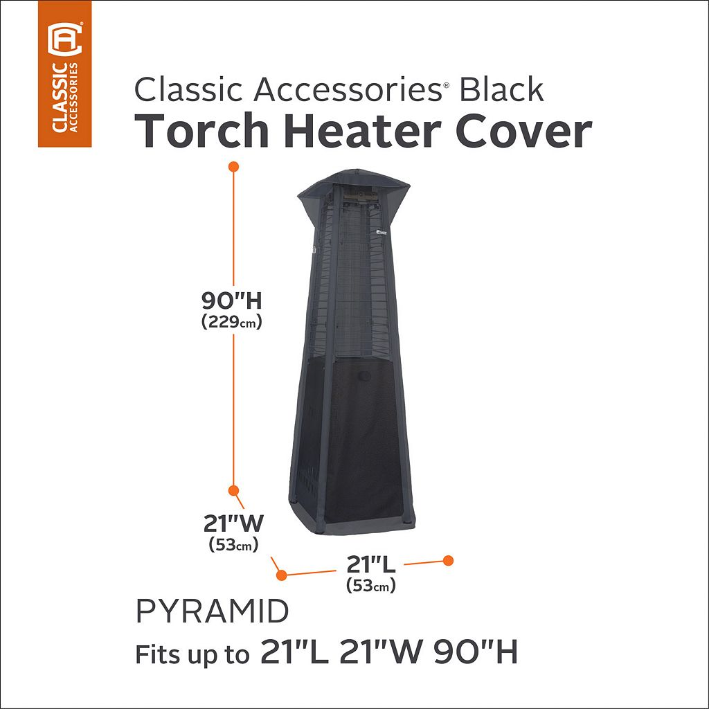 Black Pyramid Torch Patio Heater Cover