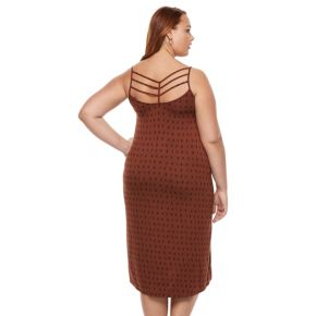Plus Size Apt. 9® Strappy Back Midi Tank Dress