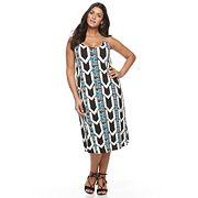 Plus Size Apt. 9® Strappy Back Midi Tank Dress