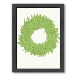 Americanflat Wreath Framed Wall Art