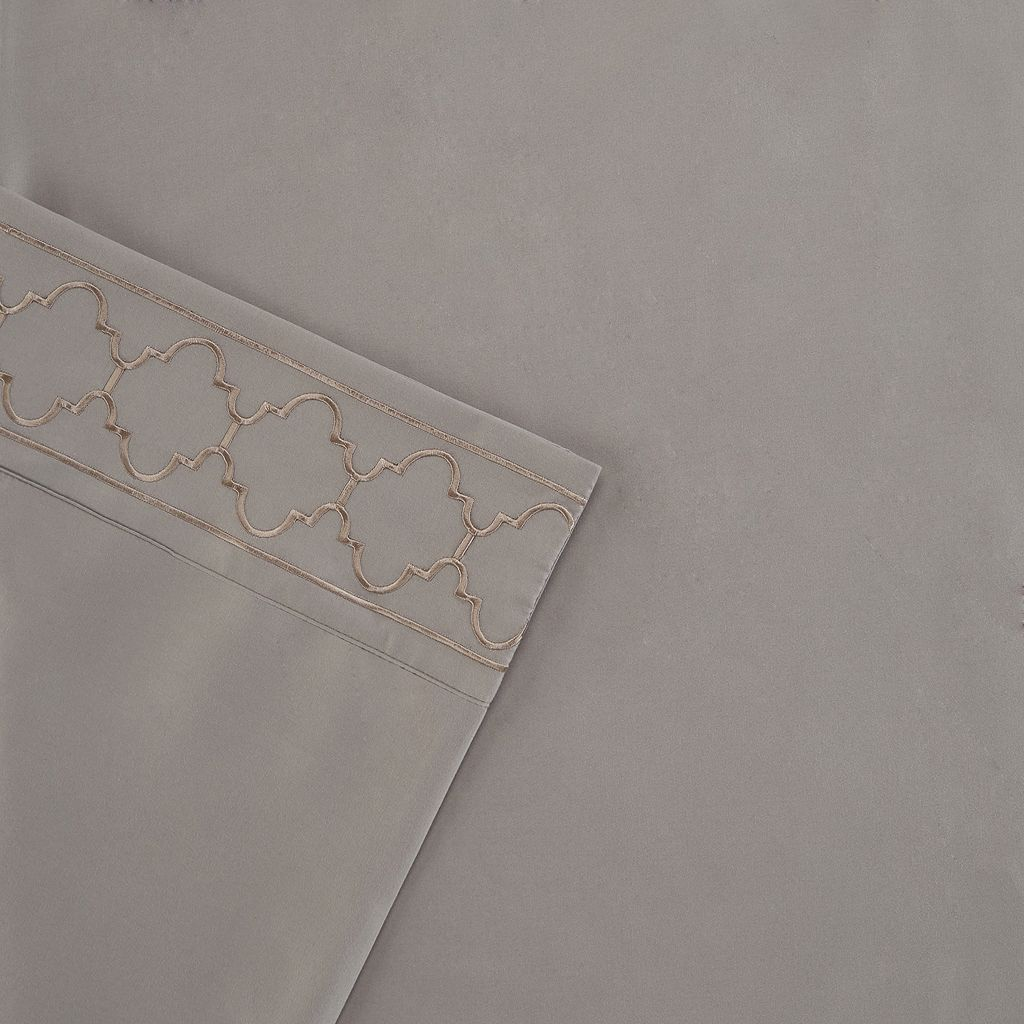 Madison Park Fretwork Embroidered Sheet Set