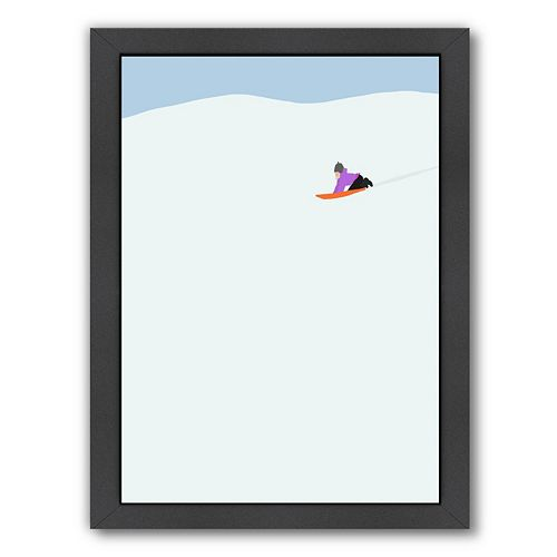 Americanflat Sledder Framed Wall Art