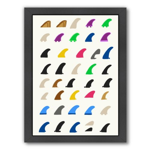 Americanflat Fins Framed Wall Art