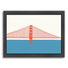 Americanflat Golden Gate Bridge 3 Framed Wall Art