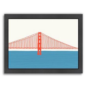 Americanflat Golden Gate Bridge 3 Framed Wall Art