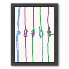 Americanflat Knots Framed Wall Art