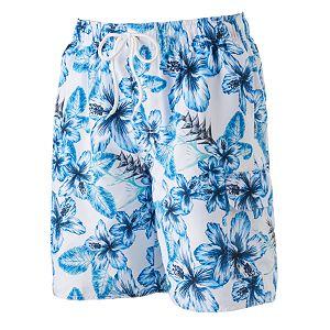 Big & Tall Croft & Barrow® Floral Microfiber Swim Trunks