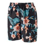 Big & Tall Croft & Barrow® Floral Microfiber Swim Trunks