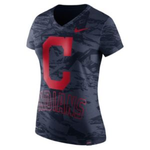 Women's Nike Cleveland Indians Pattern Dri-FIT Tee