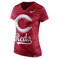 Women's Nike Cincinnati Reds Pattern Dri-FIT Tee