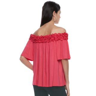 Women's ELLE™ Off-the-Shoulder Ruffle Top