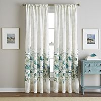 Watercolor Floral Window Curtain