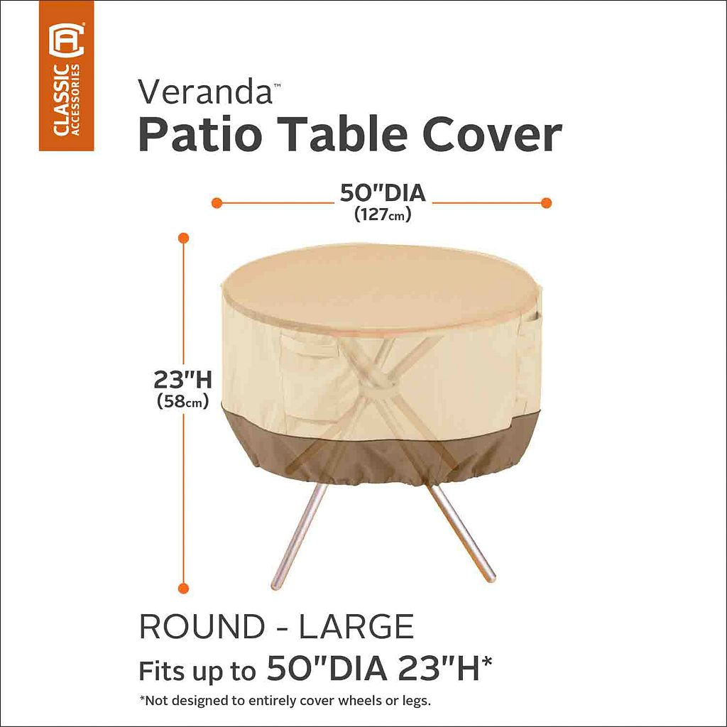 Veranda Large Round Patio Table Cover