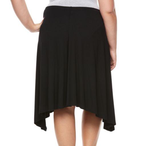 Plus Size Apt. 9® Shark Bit A-Line Midi Skirt