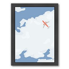 Americanflat Sky With Plane Framed Wall Art