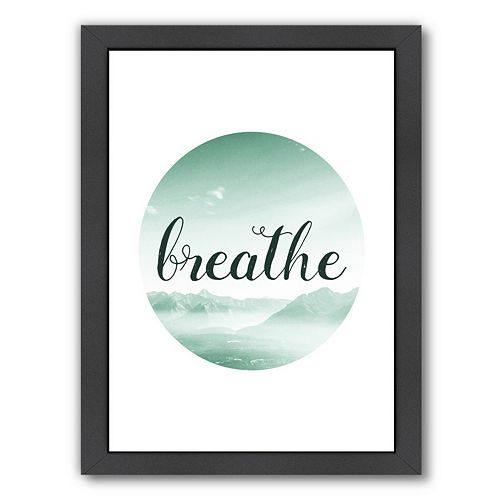 Americanflat Breathe Framed Wall Art
