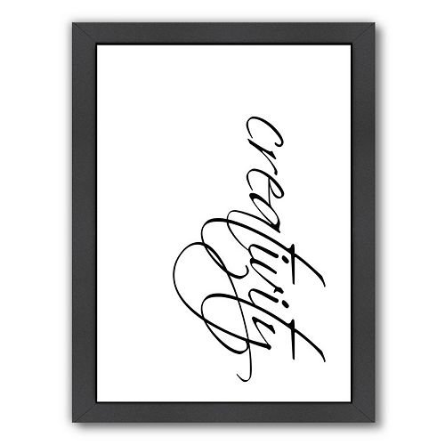 Americanflat Creativity Framed Wall Art