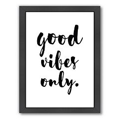 Americanflat Good Vibes Only Framed Wall Art