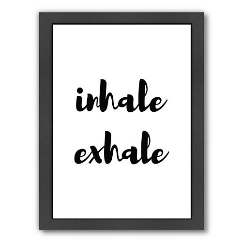 Americanflat Inhale Exhale Framed Wall Art