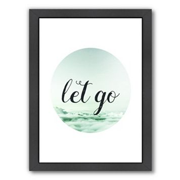 Americanflat Let Go Framed Wall Art