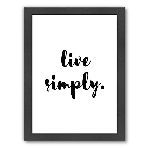 Americanflat Live Simply Framed Wall Art