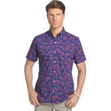 Big & Tall IZOD Advantage Classic-Fit Button-Down Shirt