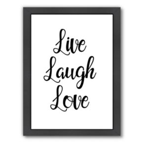 Americanflat Live Laugh Love Framed Wall Art
