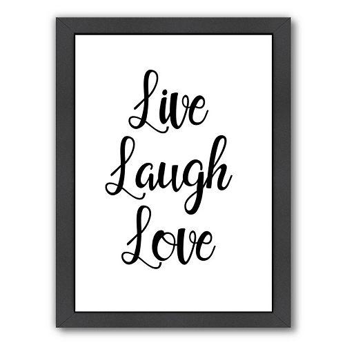 Americanflat Live Laugh Love Framed Wall Art