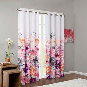 Intelligent Design Blackout 1-Panel Cassidy Window Curtain