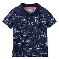 Baby Boy Carter's Slubbed Print Polo