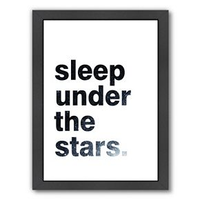 "Americanflat ""Sleep Under The Stars"" Framed Wall Art"