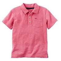 Boys 4-8 Carter's Slubbed Solid Polo