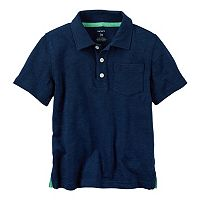 Baby Boy Carter's Slubbed Solid Polo