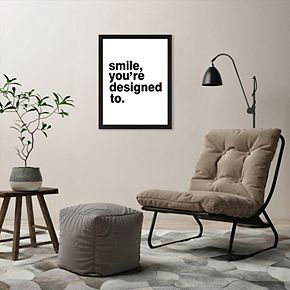 """Americanflat """"Smile, You're Designed To"""" Framed Wall Art"""