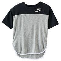 Girls 7-16 Nike Colorblock High-Low Hem Tee