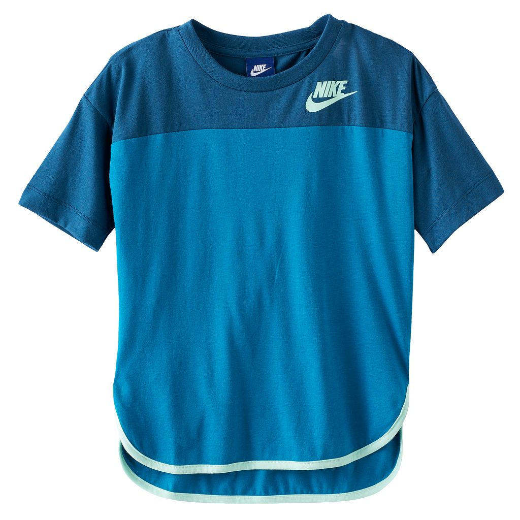 Girls 7-16 Nike Colorblock High-Low Hem Tee