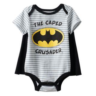 "Baby Boy DC Comics Batman ""The Caped Crusader"" Graphic Bodysuit & Cape Set"