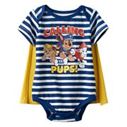 Baby Boy Paw Patrol 'Calling All Pups' Chase, Rubble & Marshall Bodysuit & Cape Set